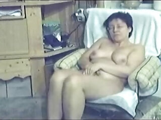 1:03 - My mum home alone caught masturbating by my hidden cam -