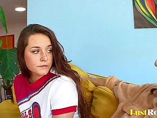 10:12 - Wild Talia Palmer distracts her angry daddy -