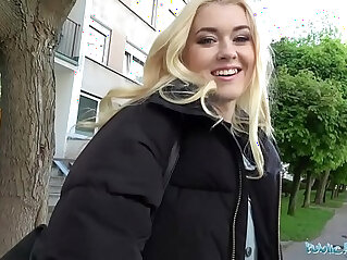 12:25 - Public Agent Hot blonde fucked hard doggy style in forest for cash -