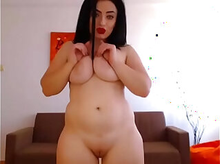 8:47 - Hot chubby girl masturbating free striptease -