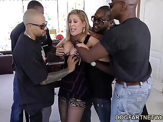 12:47 - Cherie deville gets gangbanged by big black monster cocks -