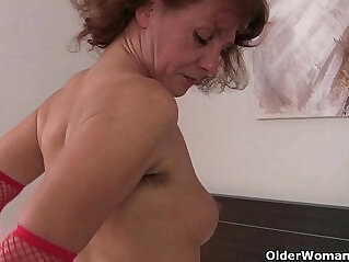 18:42 - Grannies with full bushed and natural hairy pussies -