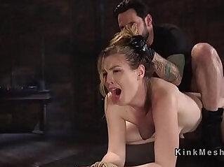 5:46 - Sexy slave got anal strapon fuck training -