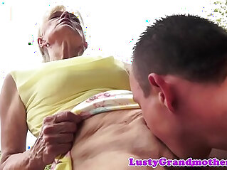 6:32 - Hairy grandma gets banged outdoor action -