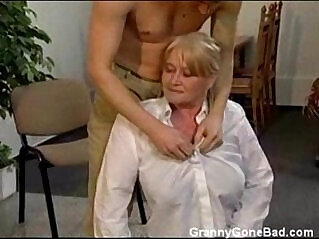 3:02 - Granny with Big Soft Tits get Fingered and Fucked -