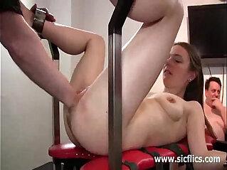 8:26 - Skinny slut takes a massive fisting penetration -