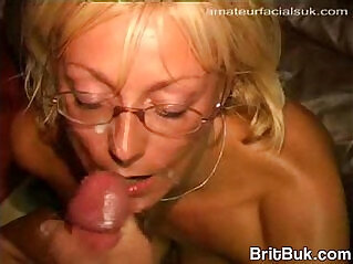 5:31 - UK Milf Swallows Gets Cum on Her Glasses -