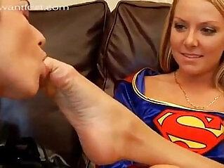 10:27 - Catwoman Worships Superwomans And Wonderwomans Feet -