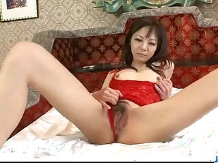 12:48 - Extreme solo with horny milf in lingerie Hikaru Aoyama -