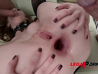 1:51 - Halloween treat! Linda Sweet triple anal TAP with two guys -