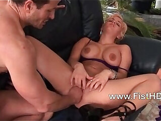 5:09 - Busty Britney gets pussy cumed and fisted -