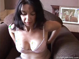 11:42 - Super sexy old spunker imagines you fucking her juicy pussy -