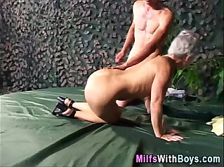 10:52 - Grey Haired Granny Outdoor Hardcore Fucked -