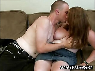 17:30 - Chubby amateur ex girlfriend sucks cock and fucks at home -