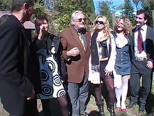 34:29 - Hot sex picnic turn in a orgy directed by a dirty old man! -