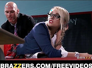 7:29 - Kinky blonde schoolgirl is spanked and fucked by her prof -