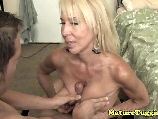 5:37 - Handjob loving granny pampering dick -