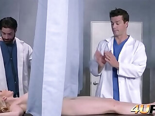5:53 - Doctors help this nympho to quench her thirst for sex at the same time -