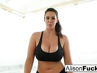 6:19 - Alison Tyler works a dildo -