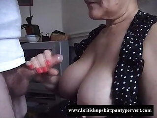10:35 - British granny lifts her skirt and lets me fuck her tight panties -