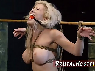 8:39 - Bondage anal gang rough blowjob cum swallow Big breasted blond hottie -