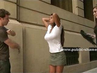 4:55 - Busty slut on high heels public disgrace -