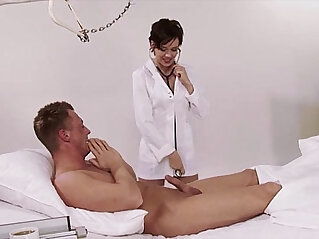 12:48 - German, nurse, uniform, hospital, big natural tits, brunette, high heels, big co -