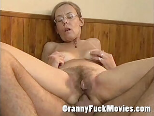 5:03 - Old granny gets fucked deep and hard in her hairy ass -