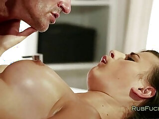 6:31 - Beautiful brunette milf gets massage -