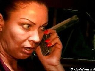 10:12 - Old woman sucks a nice cock gets facial -