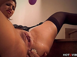 10:12 - Dildo Drilling and Squirting on the Stairs -