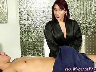 5:37 - Jizzy mouth masseuse suck -