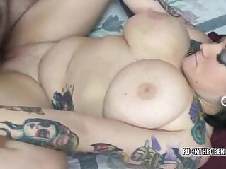 6:38 - Tattooed coed Christine getting her face fucked -
