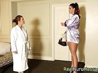 5:39 - Lesbian masseuse tasted -