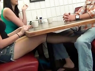 13:25 - claire blows daddy in resturant -