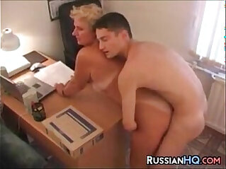 14:44 - Mature Russian Boss Fucks In Her Office -