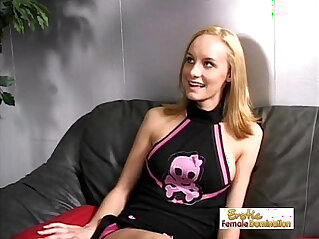 27:55 - Lesbian Mistress Abuses A Hot Teen Cheerleader -