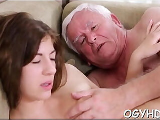 5:55 - Brave young asian girl drilled by old rod -