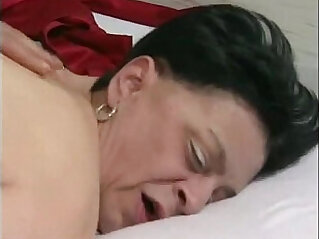 17:31 - years old granny with nylons stocking -