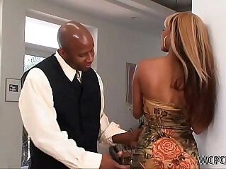 10:38 - Surprising his Young Ebony Stepdaughter -