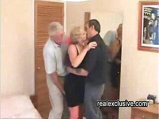 10:17 - Mature Swinger trio in a hotel -