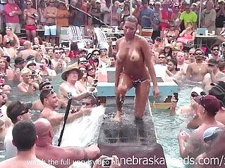 16:43 - dantes pool wet tshirt pole contest during fantasy fest 2013 -