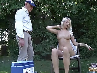 7:41 - The icecream man gets to have sex with blonde tight pussy cum -