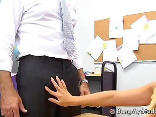 9:10 - Busty Student Britney Young Spreads Her Wet Vagina For School Teacher -