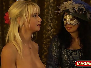 13:58 - German star strips for private mascarade swingers club -