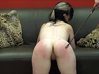 7:39 - Faes bare ass spanking and corporal punishment of striped amateur slave in sever -