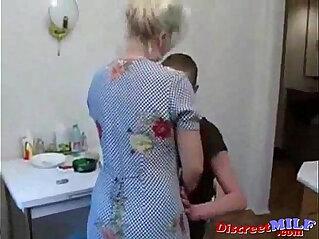 8:46 - Grandma fucks her grandson in the kitchen -