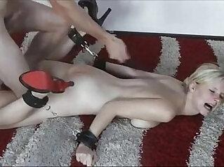 7:22 - German slut tied down and fucked -
